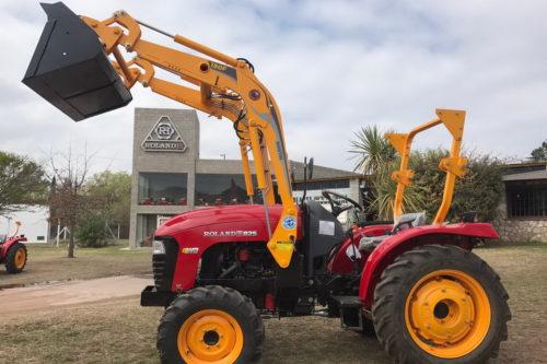 Tractor Roland H025 con pala 180F